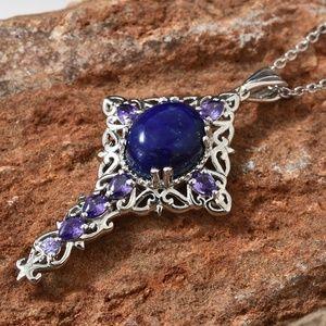 Jewelry - Lapis Lazuli, Simulated Purple Diamond Platinum